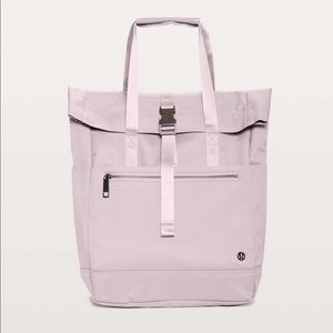 Lululemon One Trek Mind Tote- Smoky Blush Color